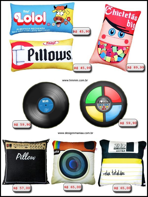 Almofadas-Lolo-Chicletes-Adams-Mini-Chicletinhos-Vinil-Genius-Amplificador-Instagram-Disquete