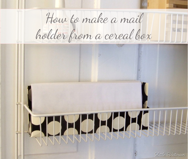 How to make a mail holder from a cereal box