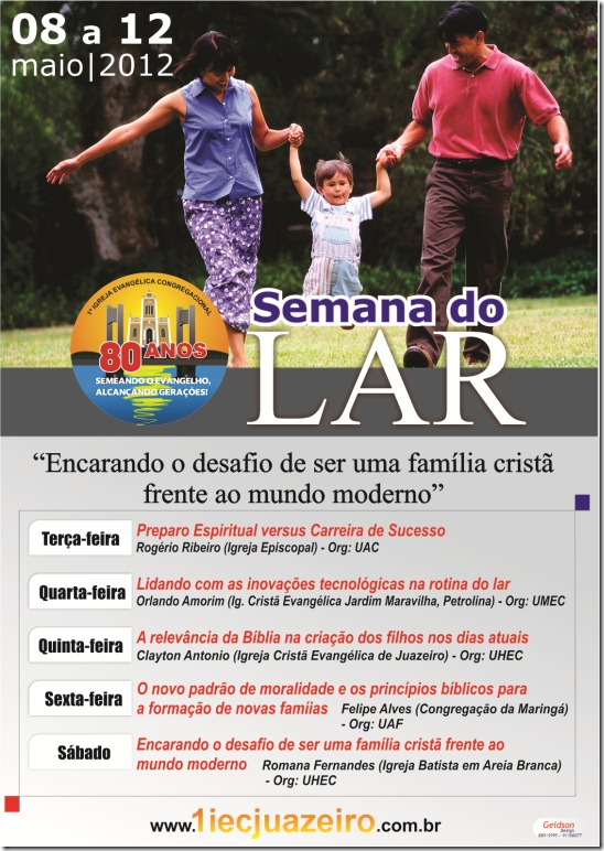 CARTAZ SEMANA DO LAR