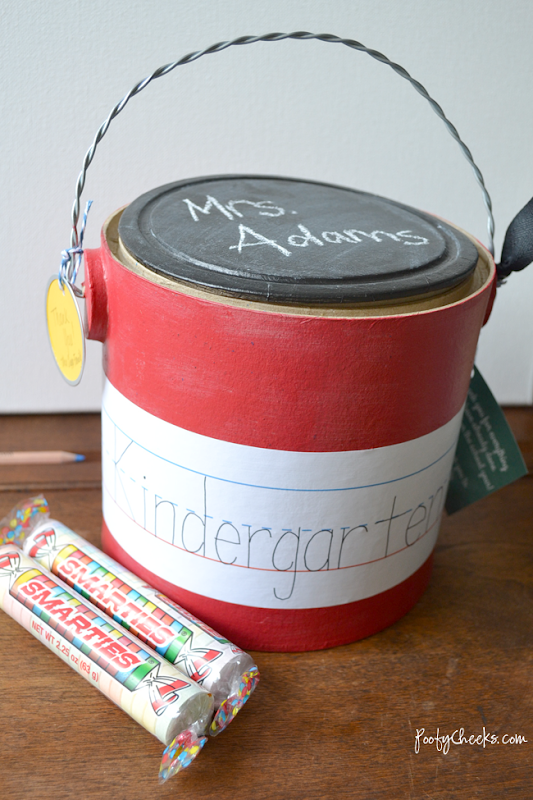 Back to School Teacher Treat Bucket