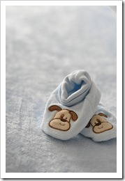 baby slippers detail