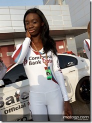 Paddock Girls Commercialbank Grand Prix of Qatar  08 April  2012 Losail Circuit  Qatar (16)