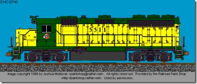 CNW GP-40 5511