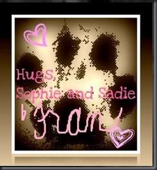 sophie and sadie blog signature