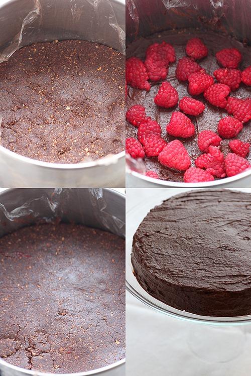 Tort raw vegan cu ciocolata si fructe de padure 6