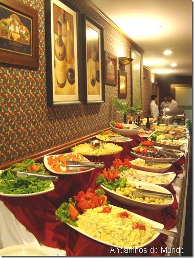 Buffet de Saladas Noite Italiana Hotel Bella Italia BlogTurFoz Foz do Iguaçu