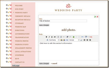 project wedding editing