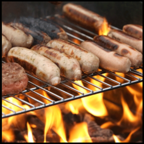 sausages-on-barbeque