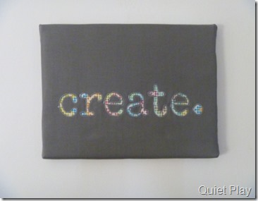 Reverse applique canvas