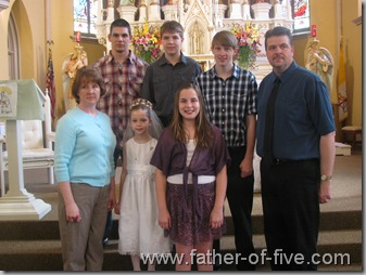 "The WHOLE ""Father of five"" family!"