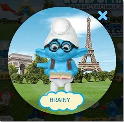 Smurf 2 X Happy Meal - Brainy Smurf