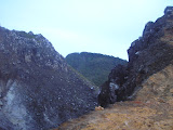 The never-visited highest point of Sibayak hides beyond the crater peaks (Daniel Quinn, August 2011)