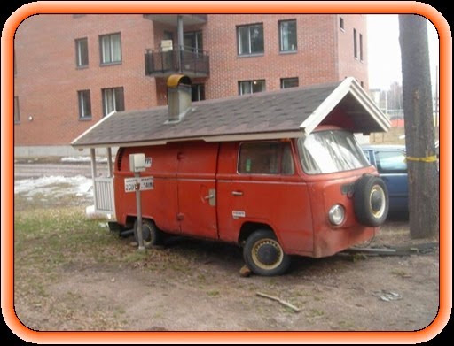 Van with roof