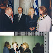 Loula with Stefanopoulos and Loula with Hillary.jpg