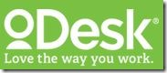 oDesk Logo and Slogan