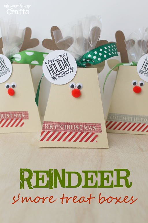 S'more Reindeer Treat Box from GingerSnapCrafts.com #Christmas