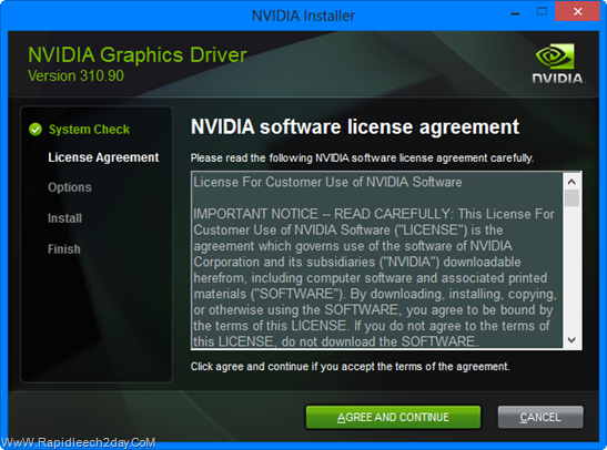 NVIDIA Installer windows 8