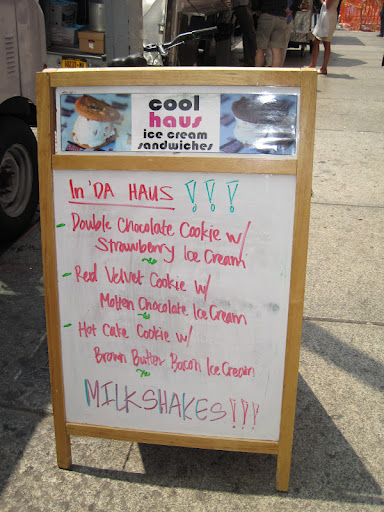 Coolhaus also offers different speciality ice cream sandwiches every day.