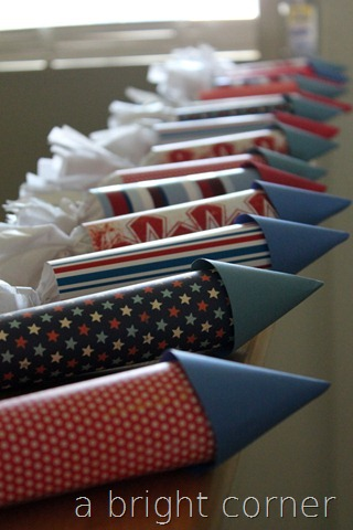 filled paper rockets