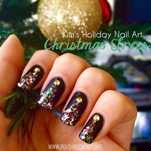 Christmas Tree Inspired Nail Art by Kim for polish insomniac