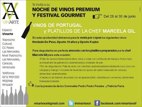 Noche de vinos premium y festival gourmet Junio 2012