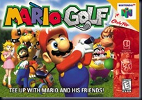 Mario Golf N64 - Capa