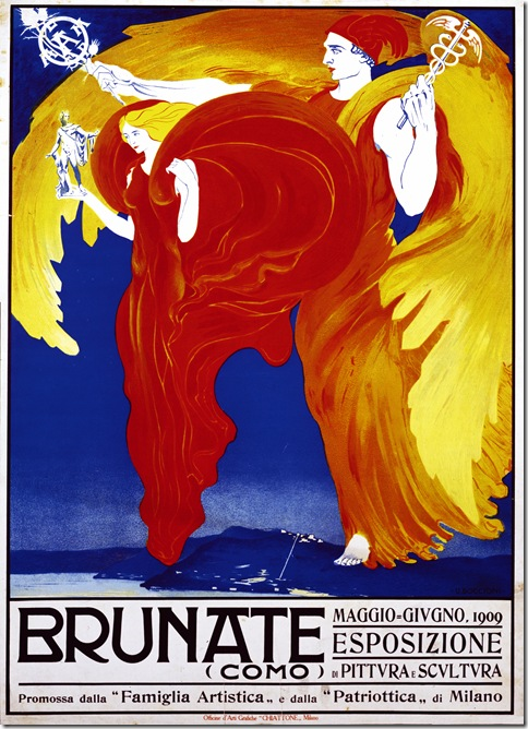 Umberto Boccioni_Manifesto per l'Esposizione di  Brunate,1909 rip. con tec.fotomec