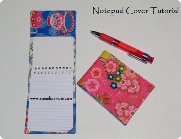 Notepad Cover Tutorial - Front