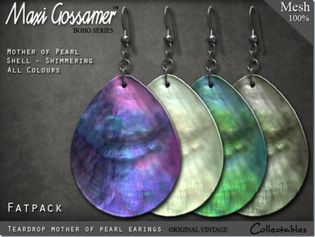 EARINGS - mother of pearl - FATPACK