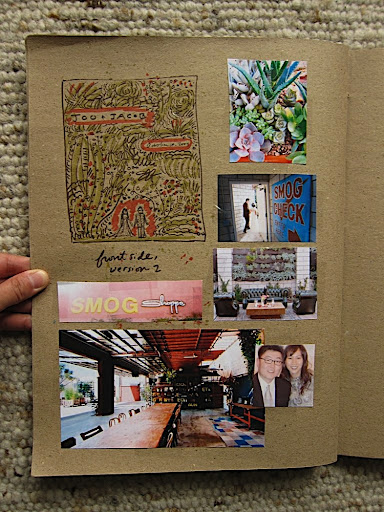 More of Erin's sketchbook, with more location shots and a photo of the couple.