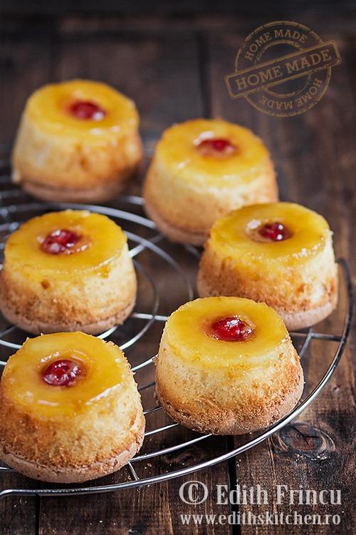 mini prajituri cu ananas caramelizat