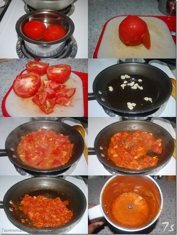 Homemade tomato sauce for pizza, lasagna and pasta process