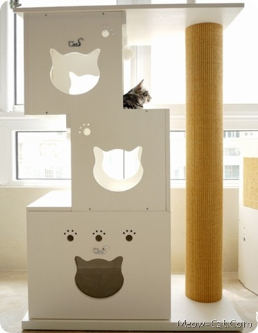 Cat furniture loved by cat fans barbra lechliter for Cat tree blueprints