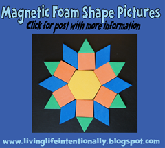 road trip games - Magnetic Foam Shape Picutres with free printable