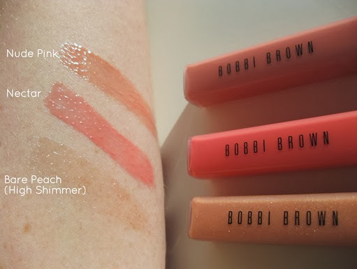 Bobbi-Brown-Nectar Nude-Lipgloss-swatches