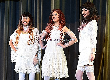 AVEDA CATWALKS FOR WATER TEAM SALON, SINGAPORE Spring Summer hair colors romantic colors summer honey brown pastel beige creativity shapes flowers plants, softness tones shades fashion hair style runway look london paris milan