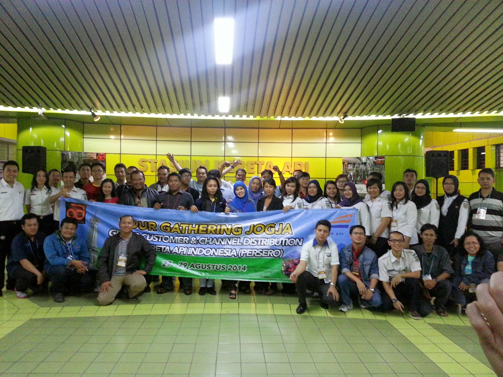 Menjajal KA kepresidenan Gathering KAI Yogyakarta 2014