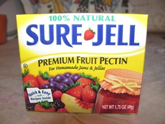 Blackberry jam 1.14.13  sure jell pectin box