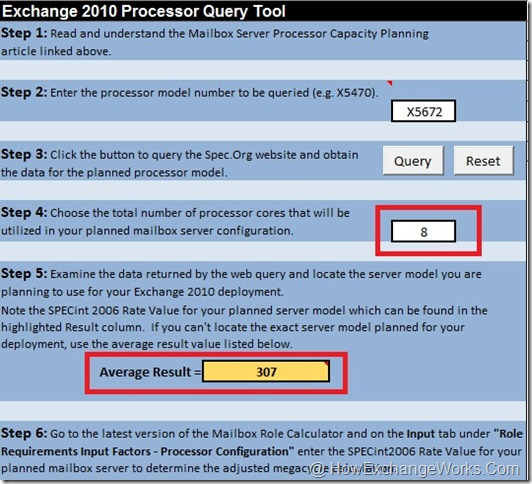 Using exchange processor query tool cloudiffic Calculating storage requirements