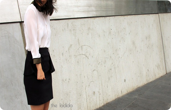 Target Back To Work - Studded Collar Shirt - Tokyo Doll, Peplum Skirt - Hot Options  (2)