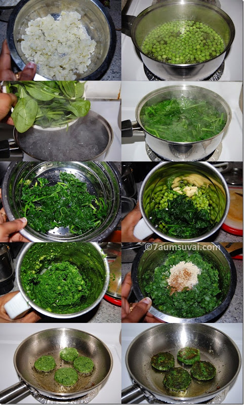 Hara bhara kebab process