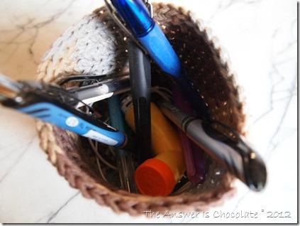 Crochet Basket Inside