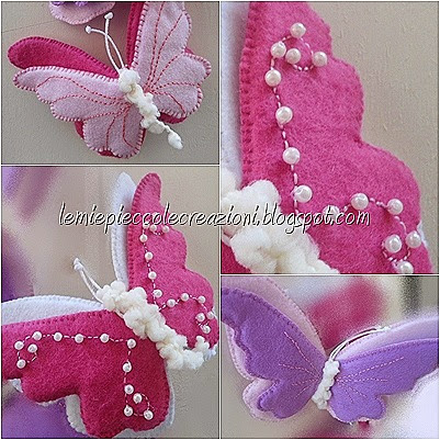 Farfalle di feltro