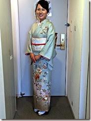 着付師 平池さん広島プリンスホテルへ出張着付け (1)