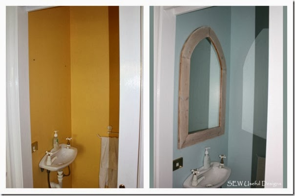 Toilet sink before and after