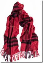 Burberry Cashmere Plaid Scarf