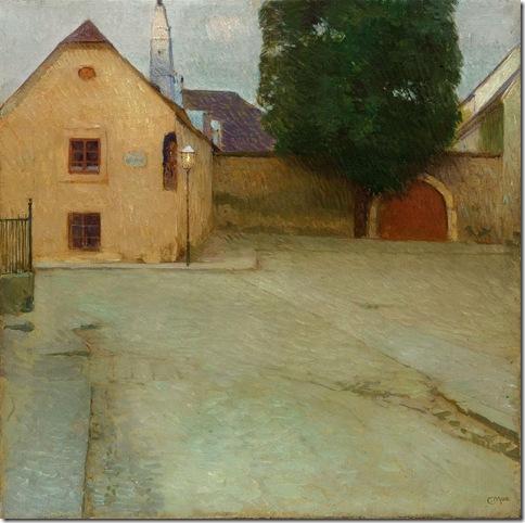 Carl Moll_PFARRPLATZ IN HEILIGENSTADT  BEETHOVEN HOUSE, 1903