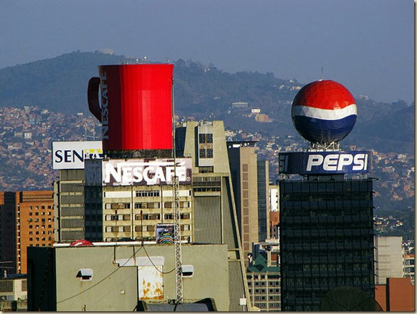 Publicités sur immeubles-nescafe-pepsi