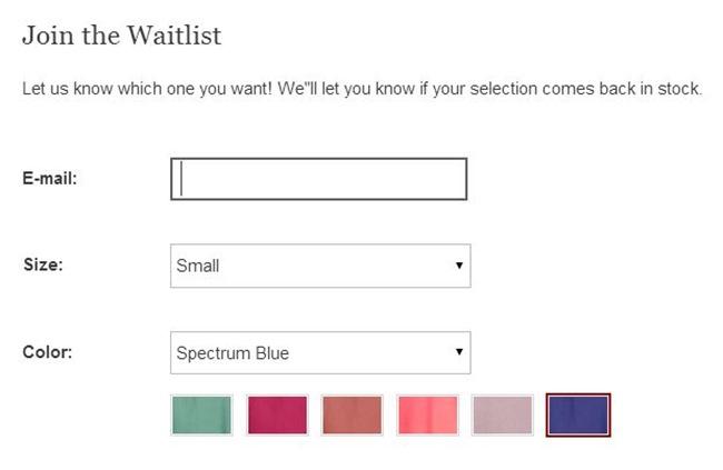 waitlist