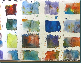watercolor squares